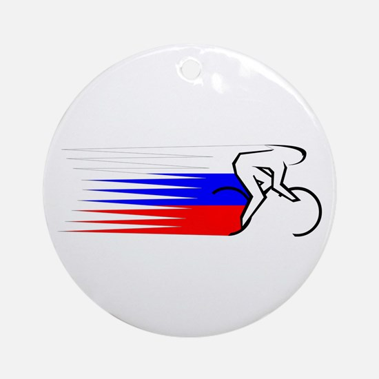Track Cycling - Russia Ornament (Round)
