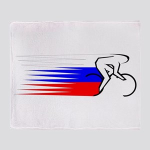 Track Cycling - Russia Throw Blanket