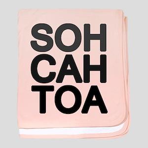 'Soh Cah Toa' baby blanket