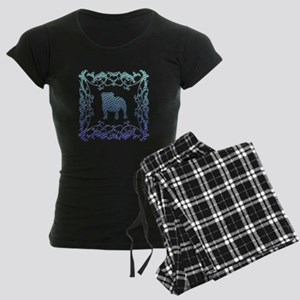 Bulldog Lattice Women's Dark Pajamas
