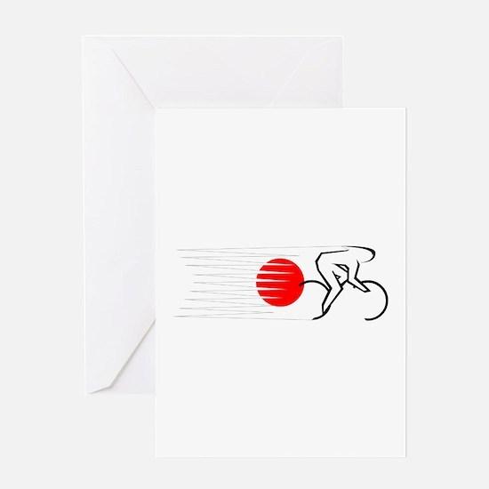 Track Cycling - Japan Greeting Card
