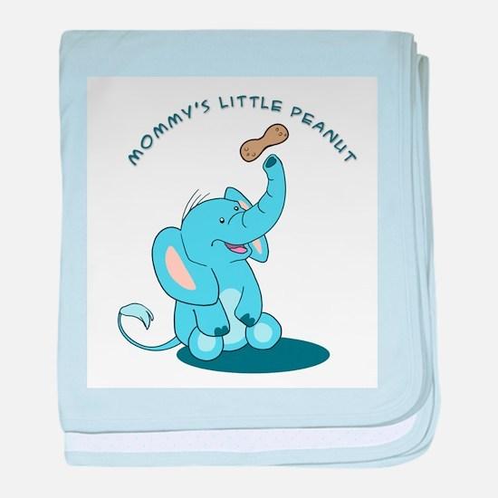 Mommy's Little Peanut - baby blanket - blue