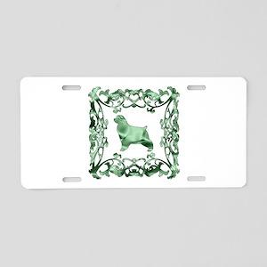 Cocker Spaniel Aluminum License Plate