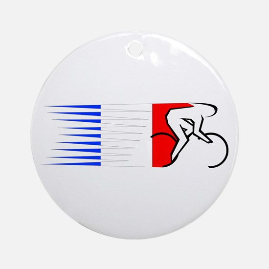 Track Cycling - France Ornament (Round)