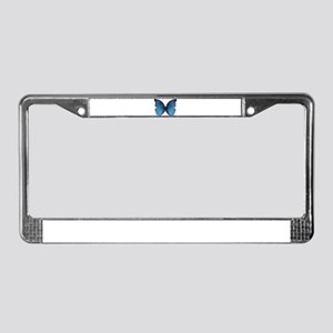 Blue Butterfly License Plate Frame