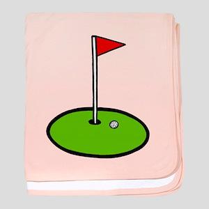 'Golf Green' baby blanket