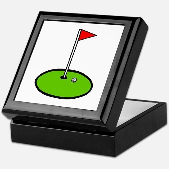 'Golf Green' Keepsake Box