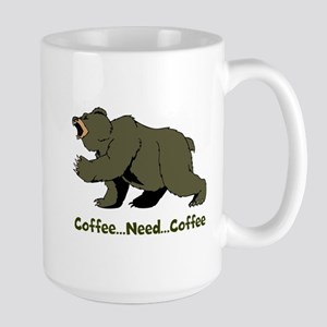 Need Coffee Large Mug