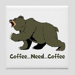 Need Coffee Tile Coaster
