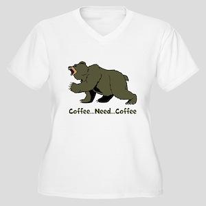 Need Coffee Women's Plus Size V-Neck T-Shirt