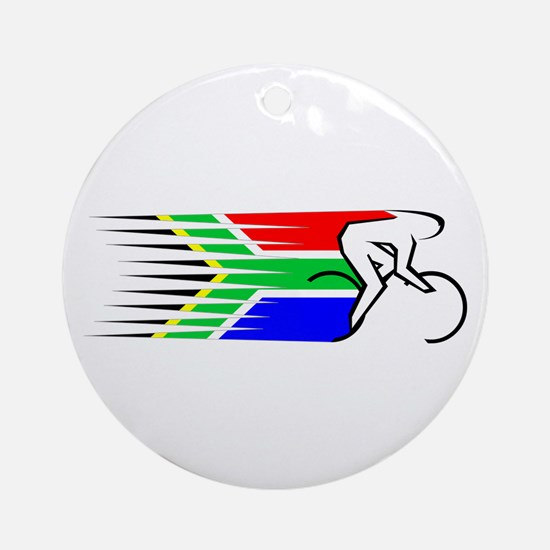 Track Cycling - South Africa Ornament (Round)