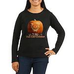 FatCat Pumpkin Women's Long Sleeve Dark T-Shirt