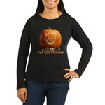 FatCat Pumpkin Women's Long Sleeve Dark T-Shirt