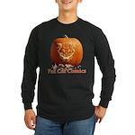 FatCat Pumpkin Long Sleeve Dark T-Shirt