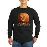FatCat Pumpkin Long Sleeve Dark T-Shirt