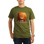 FatCat Pumpkin Organic Men's T-Shirt (dark)