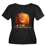 FatCat Pumpkin Women's Plus Size Scoop Neck Dark T