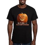FatCat Pumpkin Men's Fitted T-Shirt (dark)
