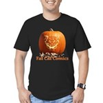 FatCat Pumpkin Men's Fitted T-Shirt (dark)