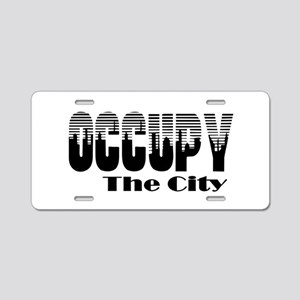 Occupy The City: Aluminum License Plate