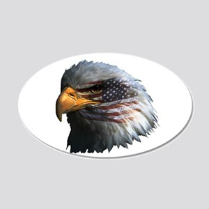 USA Eagle 22x14 Oval Wall Peel