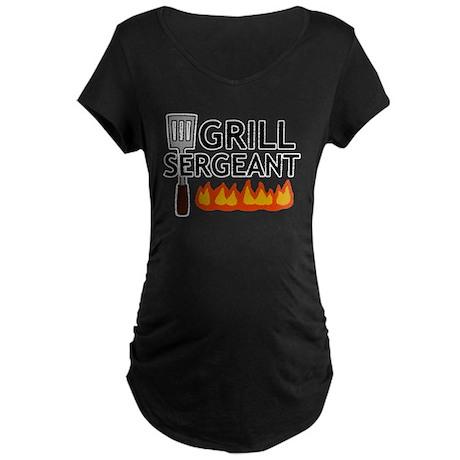 'Grill Sergeant' Maternity Dark T-Shirt