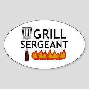 'Grill Sergeant' Sticker (Oval)