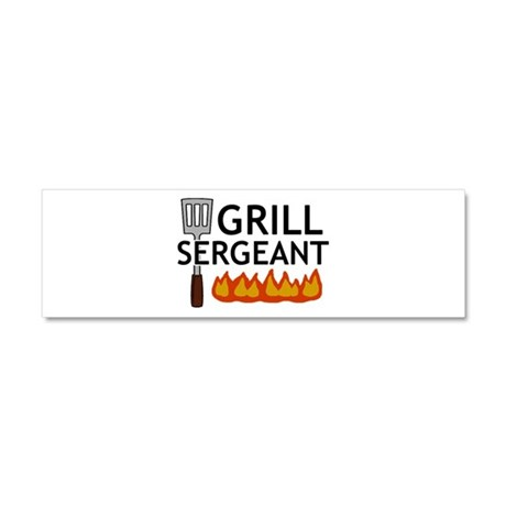 'Grill Sergeant' Car Magnet 10 x 3