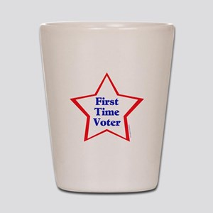 First Time Voter Star Shot Glass