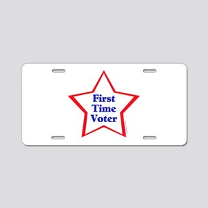 First Time Voter Star Aluminum License Plate