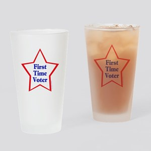 First Time Voter Star Drinking Glass