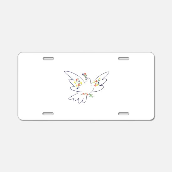 Cute Dove Aluminum License Plate