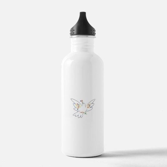 Cute Peace dove Water Bottle