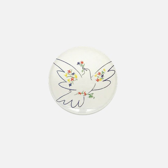 Cute Peace dove Mini Button