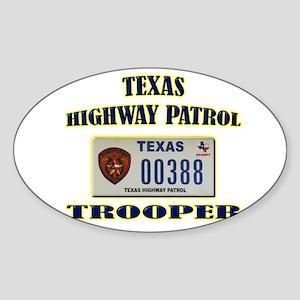 Texas Highway Patrol Sticker (Oval)