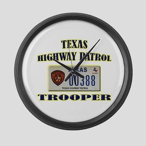Texas Highway Patrol Large Wall Clock