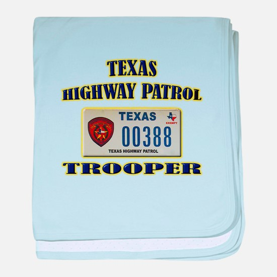 Texas Highway Patrol baby blanket