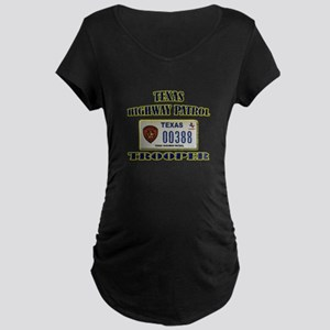 Texas Highway Patrol Maternity Dark T-Shirt