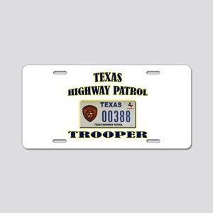 Texas Highway Patrol Aluminum License Plate