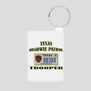 Texas Highway Patrol Aluminum Photo Keychain