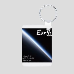 Earth Aluminum Photo Keychain