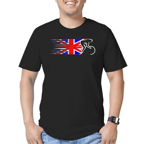 Track Cycling - UK Men's Fitted T-Shirt (dark)