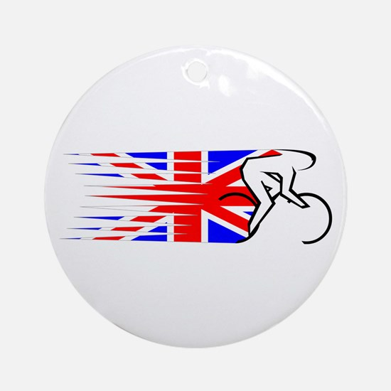 Track Cycling - UK Ornament (Round)