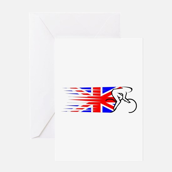 Track Cycling - UK Greeting Card