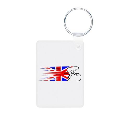 Track Cycling - UK Aluminum Photo Keychain