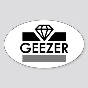 'Diamond Geezer' Sticker (Oval)
