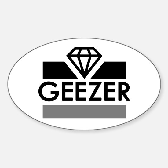 'Diamond Geezer' Sticker (Oval)