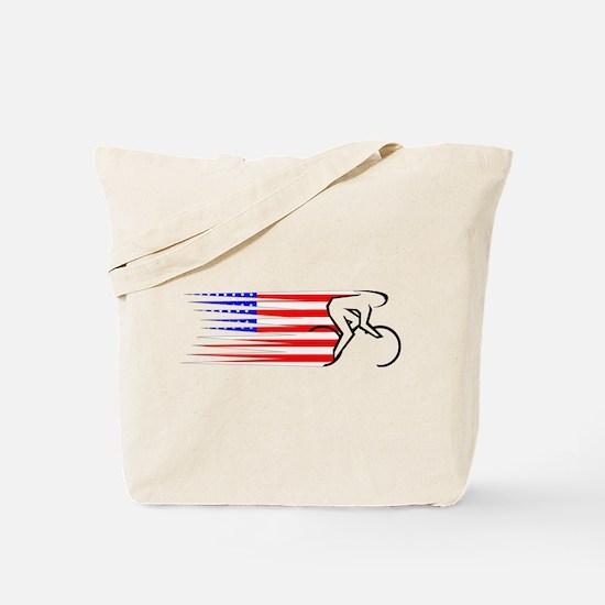Track Cycling - USA Tote Bag