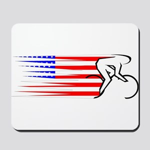 Track Cycling - USA Mousepad
