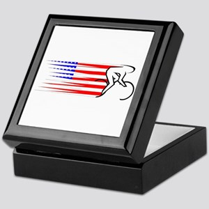 Track Cycling - USA Keepsake Box